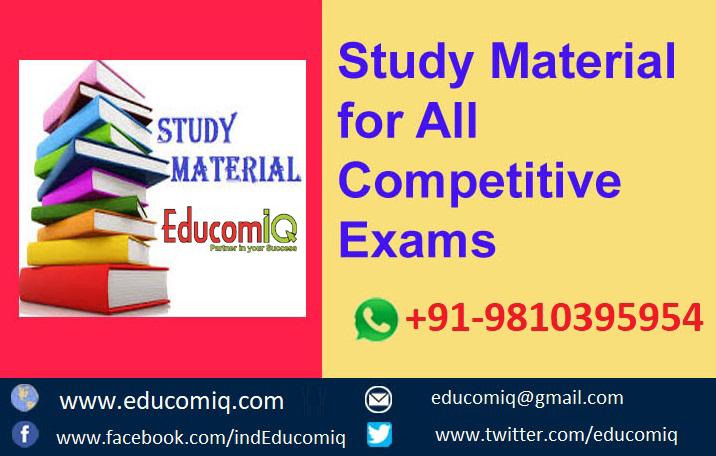 EducomiQ Study Materials For Competitive Examamination